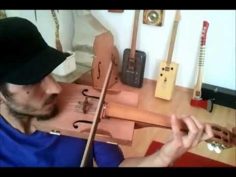 Klangbox Cigarbox Violin no2 Soundcheck