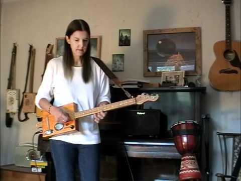 Elmar Flatpup sound test - on 4 string Cigar Box Guitar