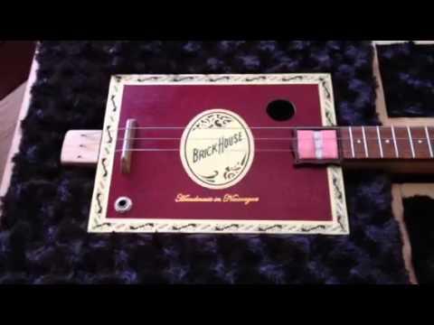 My cigar box guitar jim beam case