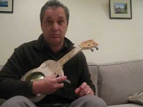 Demo of home made resonator ukulele by Titch the c