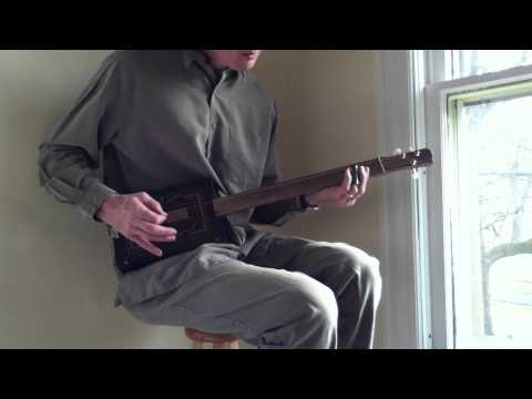 Cigar Box Guitar No. 55 Java - Played Acoustically with a Slide