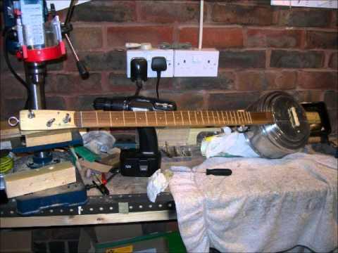 Making My Third 3 String Guitar.