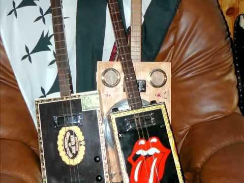 "Cigar Box Guitar  Marcelus CBG "" ROLLING STONES."""