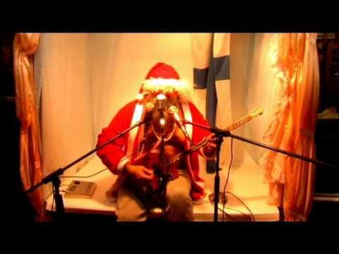 Santa Claus and cigarboxguitar