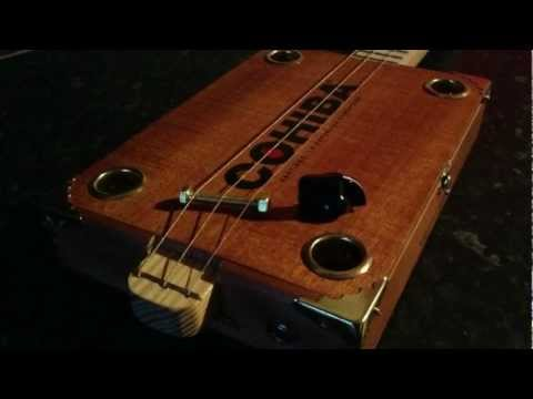 ipod touch recording of Cohiba Cigar Box Guitar