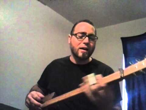 System of a Down - Lonely Day - electric three string slide cigar box guitar cover