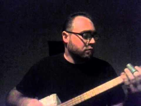 Black Hole Sun - cigar box guitar instrumental - fretless three string slide!!!!
