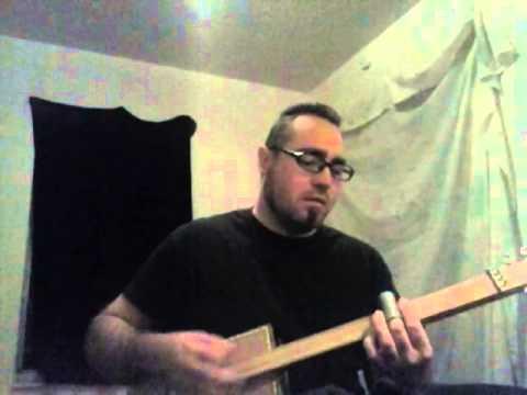 Radiohead - creep - cigar box slide guitar cover