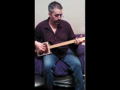 Chuck Vee's cigar box guitar