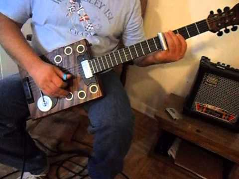 """Smokestack """"Antiquity"""" 6 string guitar"""