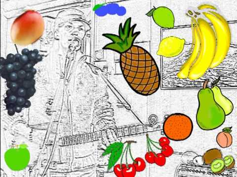 Fruit Lady (a children's song) Played on 3 String Cigar Box Guitar. Please sing along!!
