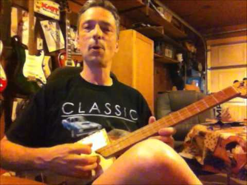 Homemade Cigar Box Guitar Pickup First Demo - Clean