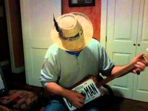 Old Man License Plate ~ Walkin' Blues