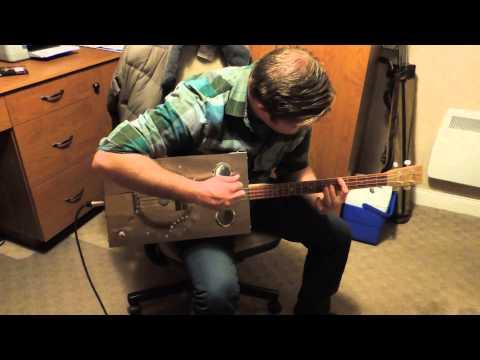 4 String Stainless Steel Cigar Box Guitar