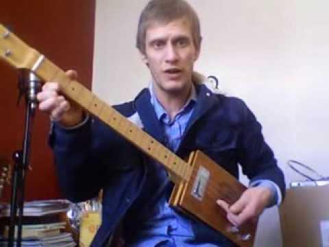 Bluegrass Cigar Box Guitar lesson part 3 - Joe Cribb