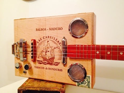 4 string Las Cabrillas Cigar Box Guitar