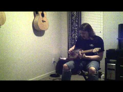 Long As I Can See The Light - 4 String License Plate Guitar