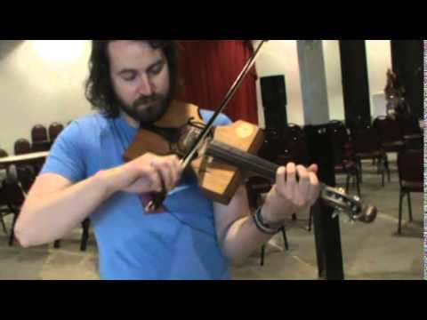 Cigar Box Fiddle Played by Oliver Craven of the Stray Birds