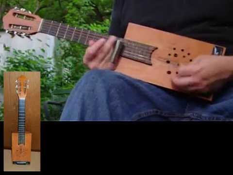 Cigar Box Guitar Homemade 5 String Delta Blues Slide