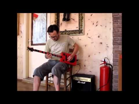 Cigar box guitar blues jam