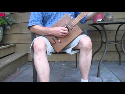 Walnut body banjo acoustic demo