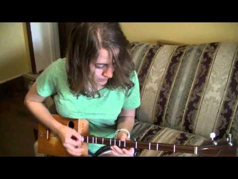 Brenna playing the dulcitar