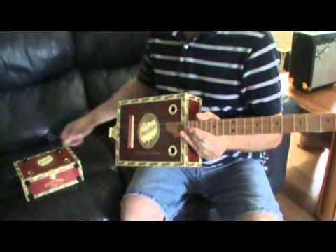 3 String Brick House Cigar Box Guitar and Amp