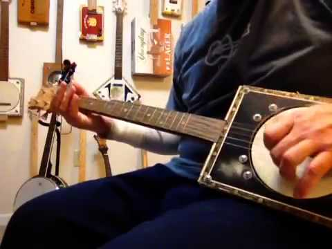 Silent Night on a cigar box guitar