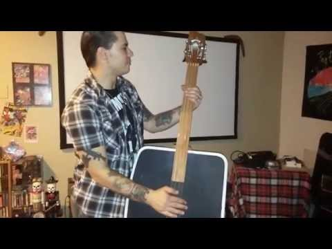 DIY suitcase upright double bass