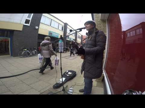 Let Go - Busking and looping with a Cigar Box Guitar