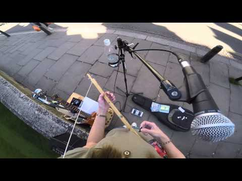 GoPro headcam test. Buskers eye view! With Canjo