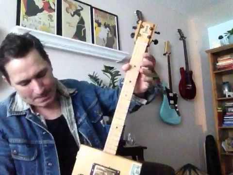My new RailRoadDon Cigar Box Guitar