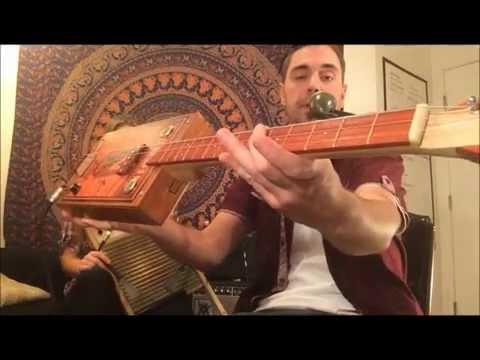 3 String Cigar Box Guitar-Shake Em On Down