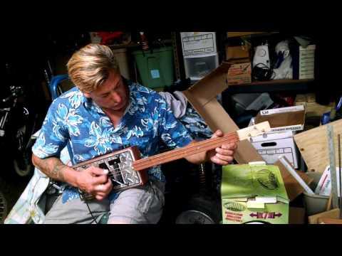 Cat License Plate Guitar #51
