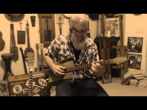 Stairway to heaven on 3 string homemade guitar