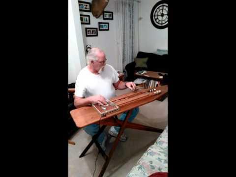 Double neck cigar box ironing board lap steel guit