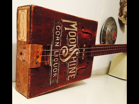 Moonshine 3 String Guitar with Harrison Pickup