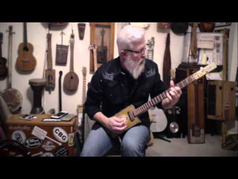 Stevie Ray Vaughan Compilation on Homemade Cigar Box Guitar
