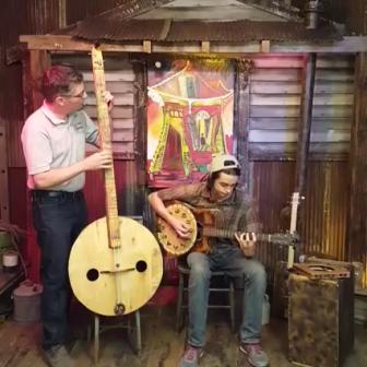 Cigar Box Nation TV: This Week's Cool & Crazy Instrument Creations (Washtub bass, cajon, tambourine)