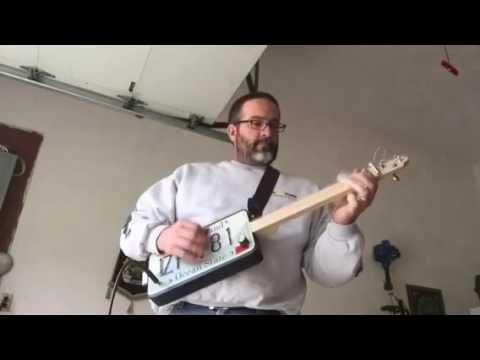 License plate guitar. RILP Guitars newest build.