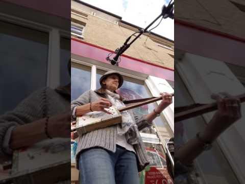 On The Edge, on 2 string Cigar Box Guitar