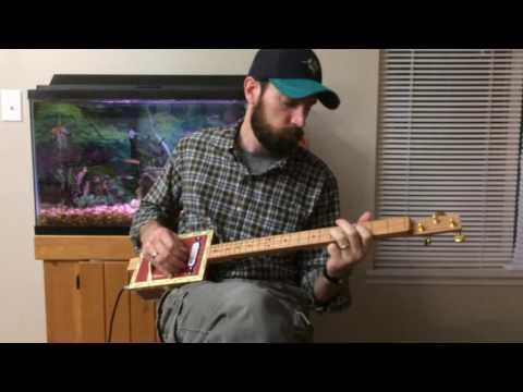 Red Brick House Cigar Box Guitar