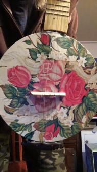 5 string cookie tin banjo