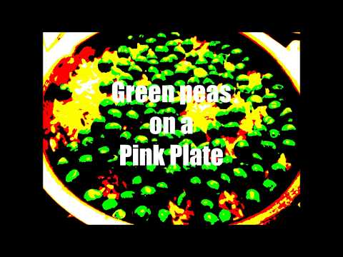 Green Peas on a Pink Plate     A D Eker  2017