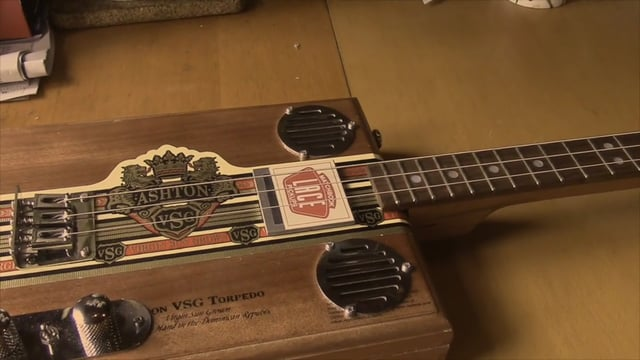 Cigar Box Guitar with Lace Matchbook pickup