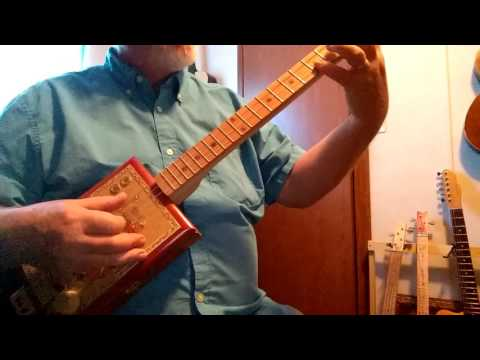 Greensleeves on a Retro Al cigar box Guitar