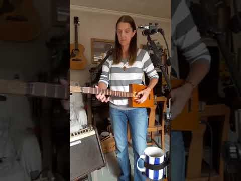 Indoor Busk with 3 String Cigar Box Guitar and live looping