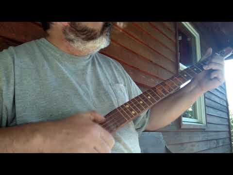 Walking stick banjo demo: John Henry clawhammer