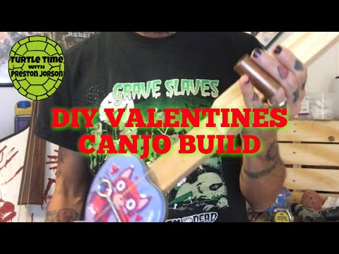 Valentines Heart Cookie Tin Canjo Build