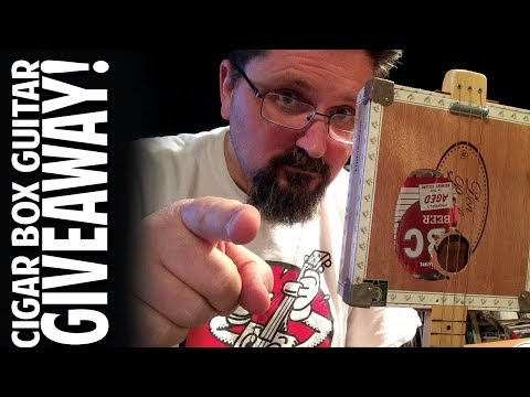 SHANE'S YOUTUBE GIVEAWAY:  Win This Cigar Box Guitar - Drawing April 18, 2018